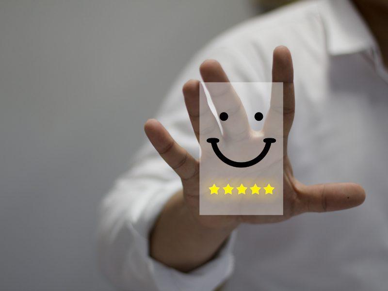 cliente felice
